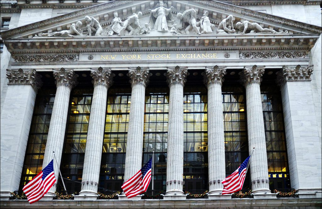 New York Stock Exchange at Wall Street