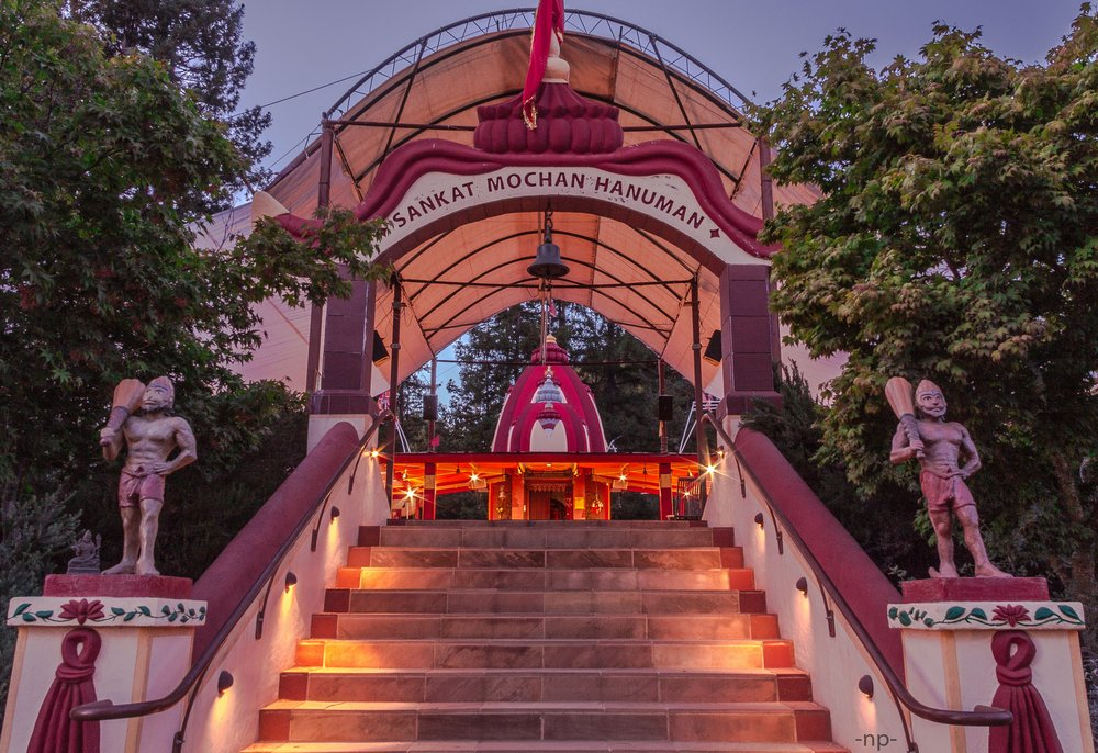 Entrance of the Sankat Mochan Hanuman temple at Mount Madonna, Watonsville, CA