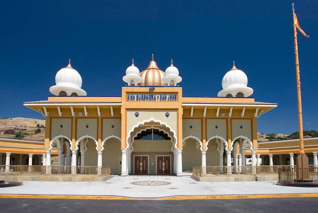 Front of the Sikh Gurudwara in San Jose, CA