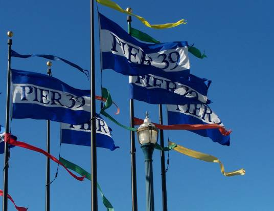 Pier 39 flags