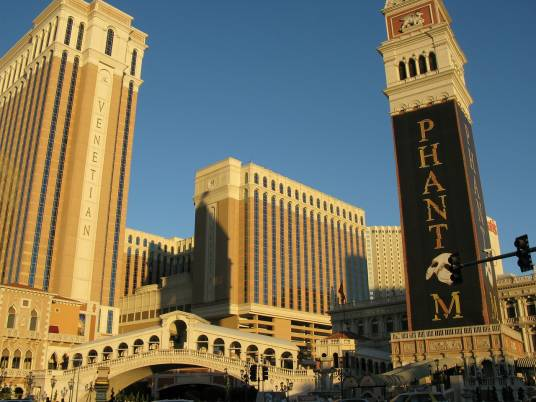 Front of the Ventian hotel in Las Vegas