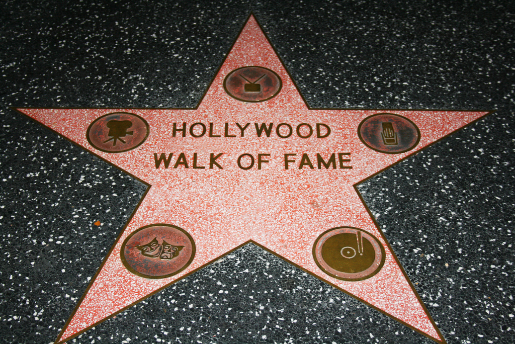 Hollywood Walk of Fame star on Hollywood boulevard
