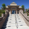 Steps leading up to the front entrance of the Hindi Temple of Las Vegas